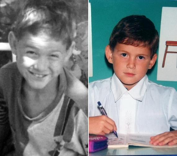 Így nézett ki a kisiskolás Fluor Tomi. A szülinapos előadó huncut tekintetű kisfiú volt.