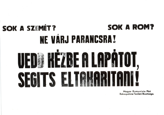 Plakát 1945-ből: a fővárosiak együtt takarították meg Budapestet.