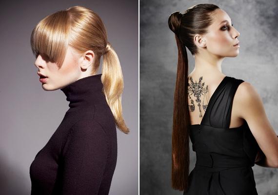 Egyszerűen fogd copfba a hajadat, majd az egyik tinccsel tekerd át a hajgumit, és alul rögzítsd egy kisméretű hullámcsattal.