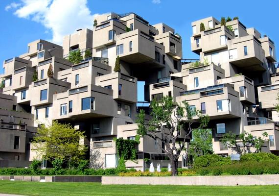 A kanadai Montrealban épült ez a nem mindennapi lakópark, a Habitat '67.