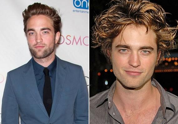 Robert Pattinson mindig is hadilábon állt a frizurájával, pedig a bal oldali fotó a bizonyíték, hogy ha az egyszerűségre törekedne, egészen máshogy nézne ki.
