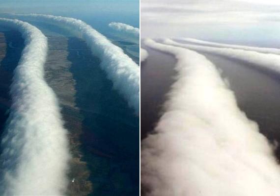 Ausztrália felett már többször érdekes, sávszerű felhőket fotóztak.