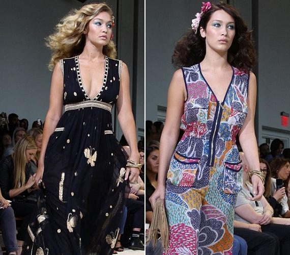 Gigi és Bella Hadid nagyon hasonlítanak egymásra, szinte csak a hajszínük különbözik: Giginek szőke, Bellának barna haja van.