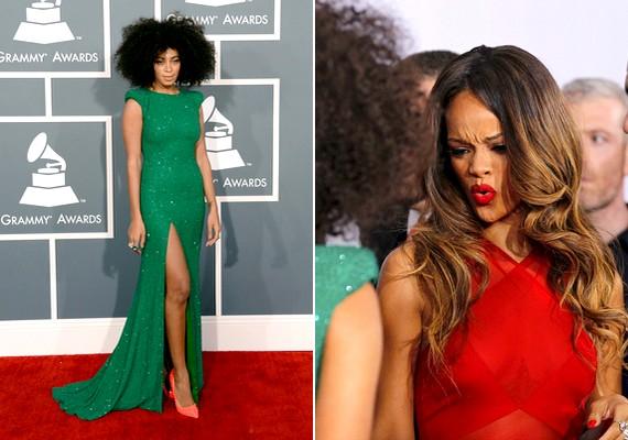 Solange Knowles hosszú, zöldRalph & Russo Couture-ruhát viselt. Ha tudni akarod, sikere volt-e, Rihanna arca mindent elárul.