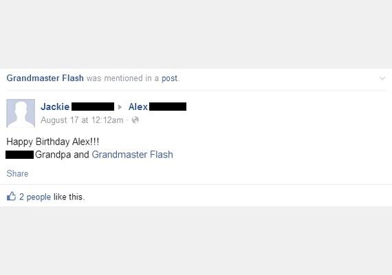 """""""Boldog szülinapot, Alex! Nagypapa és Grandmaster Flash"""""""