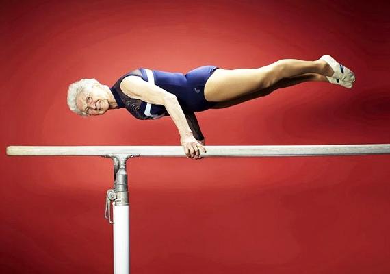 Johanna Quaas birtokolja 82 évesen a világ legöregebb aktív tornásza címet.