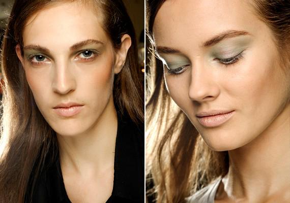 Nem kell túlzásba vinni a szemfestést sem: elég, ha a szemed színéhez passzoló árnyalatú púdert használsz a felső szemhéjon.