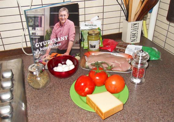 Az előkészületek: csupán ennyi hozzávaló szükséges a két recepthez. Miután Gyurcsány a könyv elején kifejti, hogy mindig érzésre főz, emiatt a receptek sincsenek különösebben túlragozva, minden esetre követhető.