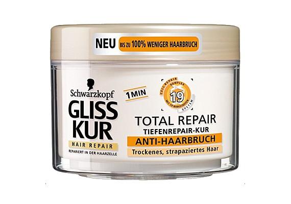 A Gliss Kur Total Repair intenzív regeneráló hajpakolás selymessé teszi a hajat, és nagyon kellemes az illata.