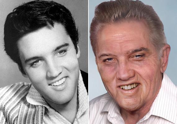 Elvis arcán nemcsak az idő múlása látszana meg, de a drogok és az alkohol nyomai is.