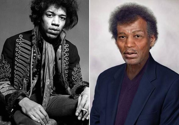 Jimmy Hendrix vonásai semmit sem változnának, csupán az arca lenne kicsit beesettebb és a haja ritkásabb.