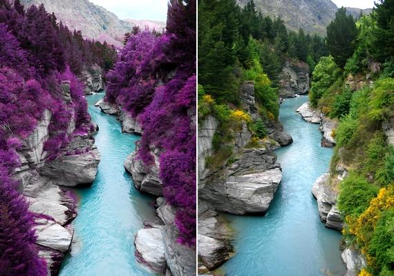 A skóciai Fairy Pools ebben a formában csak képen létezik: az eredeti fotó egy új-zélandi folyónál készült.