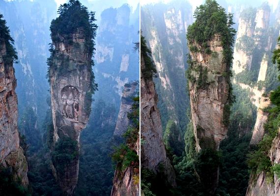 A jelentős turisztikai látványként emlegetett, sziklába faragott Buddha csak a Photoshopnak köszönhető.