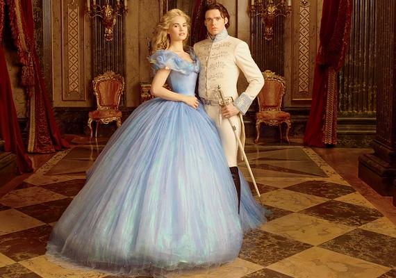 Így néz ki a filmben Lily Hamupipőkeként: partnerét, a herceget Richard Madden alakítja.