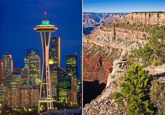 Innsbruck, Nizza, Faro, Paderborn felett is átrepülhetsz többek között, de Seattle vagy éppen a Grand Canyon szépségeit is megcsodálhatod a magasból a szimulátor segítségével.