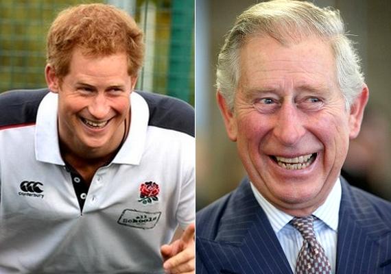 Harryt egy rögbimeccsen fotózták le a hét elején, és nem tudtuk nem észrevenni, hogy a kisebbik herceg az évek múlásával egyre jobban hasonlít édesapjára, Károlyra.
