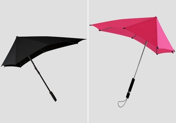 Unod, hogy kifordítja az esernyődet a szél? Váltsd le a kerek tárgyat egy sokkal praktikusabban kialakított darabra!
