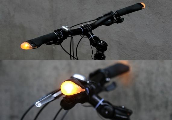 Baleset-megelőző funkciót lát el a biciklikormányra szerelhető index vagy elakadásjelző.