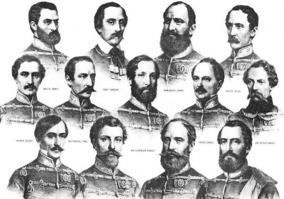 A mai napon 164 éve végezték ki az aradi vértanúkat. Habár az Aradon kivégzett honvédtisztek száma 16, a nemzeti emlékezet mégis elsősorban az 1849. október 6-án kivégzett 13 honvédtisztet nevezi így.