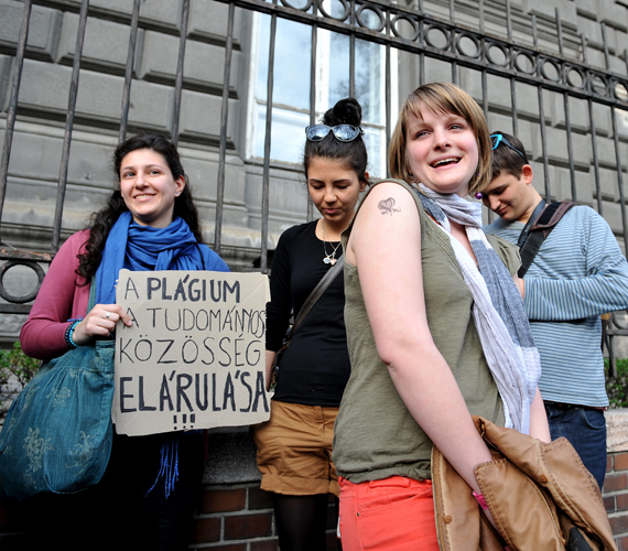 A Hallgatói Hálózat aktivistái.