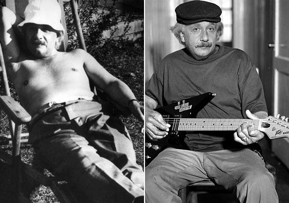 Azt mondják, van összefüggés a zene és a matematika között - de eddig el tudtad képzelni az egyik legzseniálisabb matematikust, amint egy kerti széken napozik? Einstein itt leginkább egy mókás nagybácsira hasonlít.