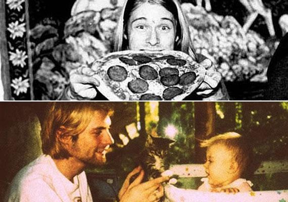 Úgy tűnik, Kurt Cobain a zene mellett három dolgot imádott: a pizzát, a macskákat és a kislányát.