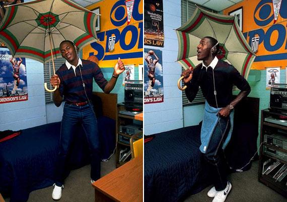 Bizony, a legendás kosaras, Michael Jordan is csak egy önfeledt főiskolás volt egykor, aki szívesen bohóckodott a koliszobájában.