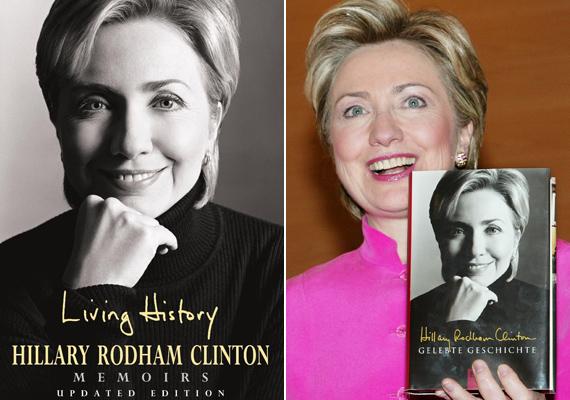 Több könyve is megjelent, ezek közül önéletrajzi regénye volt a legmeghatározóbb, melyet Living History, azaz Átélt történelem címmel írt. A regényben őszintén mesél arról is - amire korábban nem volt példa -, hogyan élte meg a Lewinsky-botrányt.