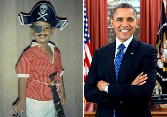 A kalózjelmezbe bújt kis Barack Obama biztosan nem gondolta, hogy felnőttként ő lesz az Amerikai Egyesült Államok elnöke.