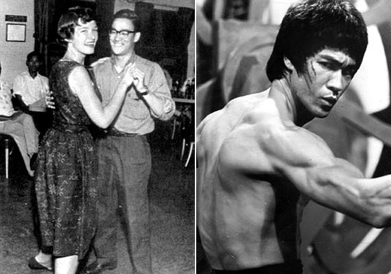 Bruce Lee, a harc mestere szemüvegben ropta a táncot.