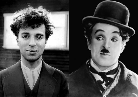 Charlie Chaplin a közönség számára felismerhetetlen a bajusz, a kalap és a smink nélkül.