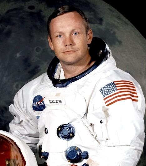 Neil Alden Armstrong  1930-as születésű az első ember, aki a Holdra, sőt, aki idegen égitestre tette a lábát. Az amerikai Neil Armstrong több mint 8 és fél napot töltött a világűrben. 1970-től már nem foglalkozott az űrutazással, egyetemi tanári pályára lépett. Elneveztek róla egy aszteroidát, valamint egy krátert a Holdon. 2012-ben szívműtétje volt, és ezt követően hamarosan elhunyt.
