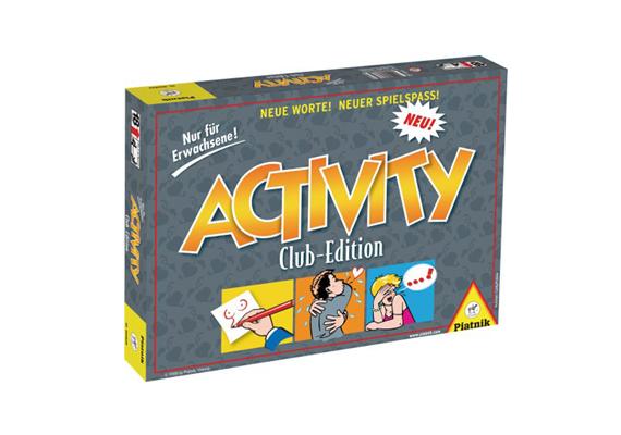 Az Activity Club Edition kifejezetten felnőtteknek készült, pikáns, humoros, olykor erotikus feladványokkal.