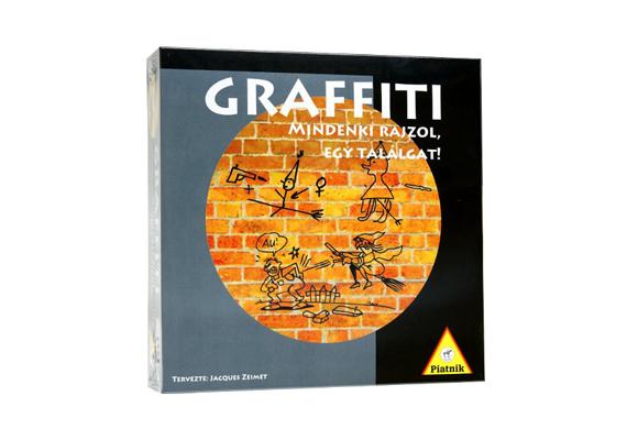 A Graffiti az egész társaság rajztehetségét próbára teszi. Mivel ilyen nem mindenkinek van, a nevetés garantált.