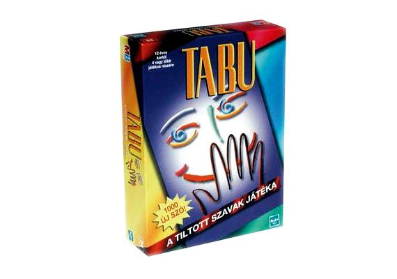 A tiltott szavak játéka, a Tabu hosszú évek óta az egyik legnépszerűbb játék, filmekben is gyakran szerepel.
