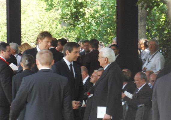Bajnai Gordon és az MDF-es Boross Péter, volt miniszterelnök Horn Gyula temetésén.