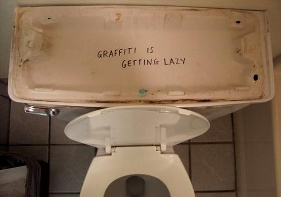 - A graffiti egyre lustább.