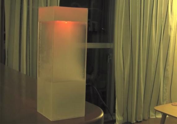 A Tempescope még a napszakot is jelezni tudja, itt például egy ködös napkeltét láthatsz.