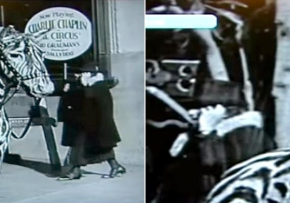 Charlie Chaplin 1928-as, A cirkusz című filmjének kezdő képkockáin is egy mobiltelefonnak látszó tárgy buktatja le az állítólagos időutazót. Az érdekességet egy rendező vette észre néhány évvel ezelőtt.