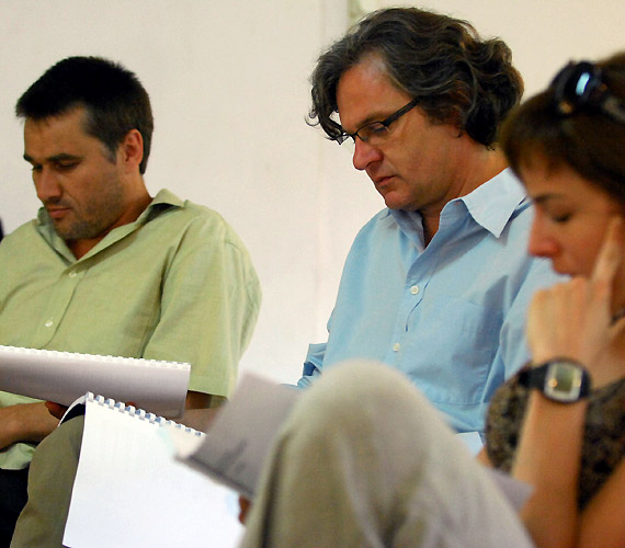 Ádámot Rátóti Zoltán, Évát Ónodi Eszter, Lucifert pedig Trill Zsolt alakítja a darabban.