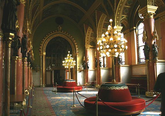 A főrendházi csarnok egykor egyfajta társalgóként szolgált, ma már csak turistalátványosság.