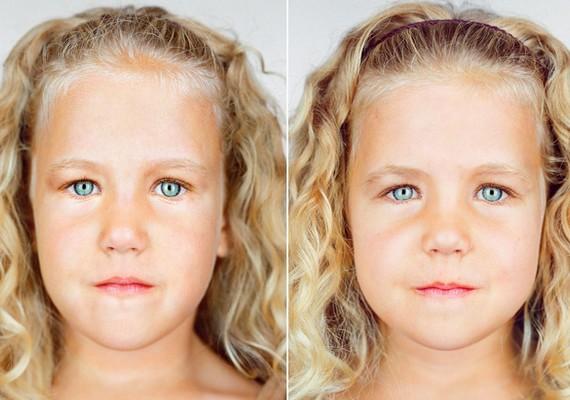 Carly és Lily Ayer arcformája nem ugyanolyan.