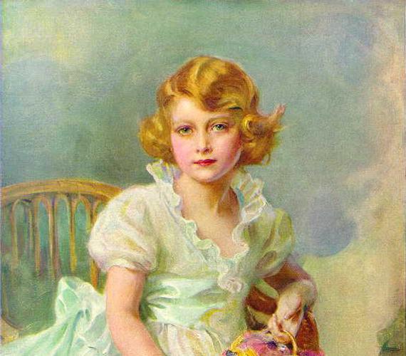 Hétévesen, yorki hercegnőként 1933-ban.