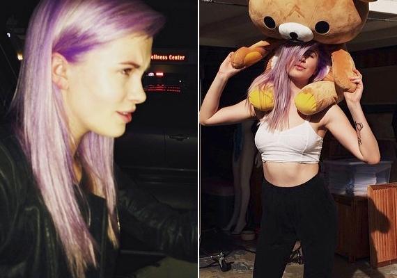 Még csak néhány napja festette be a haját, és máris egy tucat fotó felkerült róla az Instagramra.