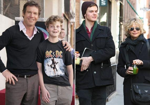 Jack Quaid mostanában nem igazán mutatkozott apjával, Dennis Quaiddel, Meg Ryannel azonban a mai napig gyakran lefotózzák.