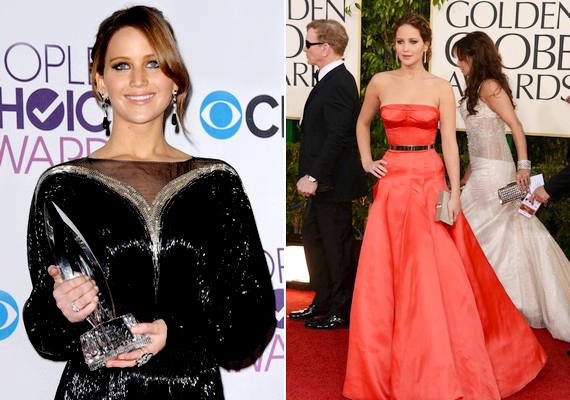 Az idei People's Choice Awardson és a Golden Globe-gálán is elegáns estélyiben és nőies konttyal jelent meg.