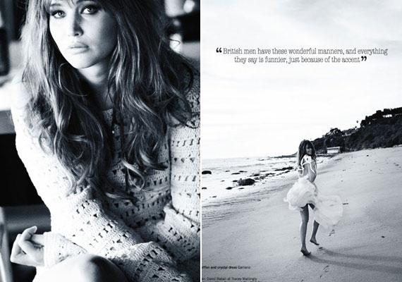 A Glamour magazinnak azt is elárulta, imádja Nagy-Britanniát, és teljesen odavan a brit férfiak akcentusáért...