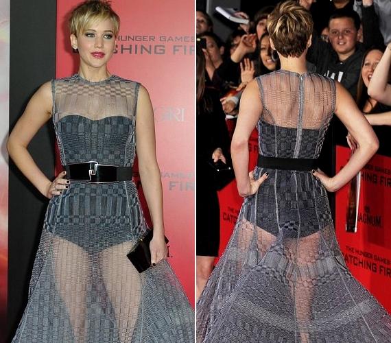 A színésznő a Los Angeles-i premieren is sokat sejtető ruhakölteményt viselt: az áttetsző viselet szintén a Diortól származik.