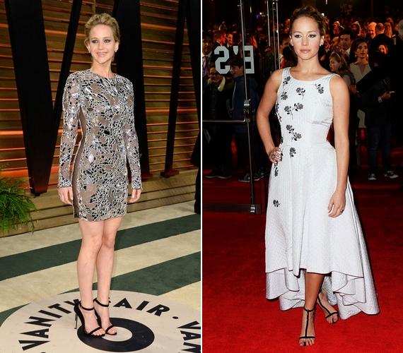 Jennifer Lawrence nyolc év alatt a vörös szőnyegen is megtanult otthonosan mozogni, a különbség szembetűnő a régi és az új fotói közt.