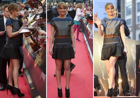 A Hunger Games bemutatóján már dívaként osztogatta az autogramokat.
